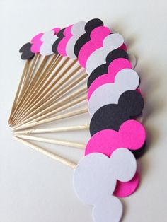 Minnie Mouse Birthday Party Decoration Cupcake/ Food/ Decoration Picks on Etsy, $3.00
