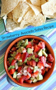 Strawberry- Avocado Salsa #recipe - great summer party salsa for chip dipping!