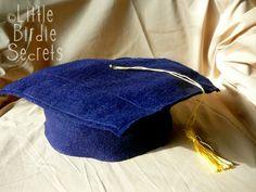Graduation Cap tutorial ~ Made from Felt. So adorable for a graduation!