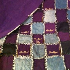 Crown Royal Quilt!!! This is what you can do with all those crown royal bags and old jeans.