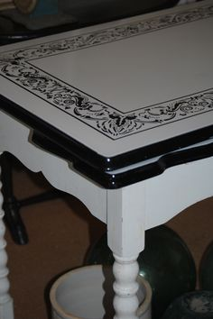 Vintage enamel topped table....