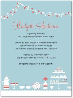 bridal shower invite - love the color scheme