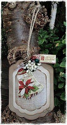 Christmas card w/  #Spellbinders Dies