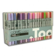 COPIC Ciao Marker Set of 72 Colours Set A - Copic Ciao Markers - Markers - Drawing & Illustration. Need these!