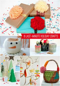 8 Last-Minute Holiday Crafts!
