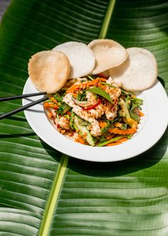 Take a cooking class with Nguyen Dzoan Cam Van and lear to cook food like this squid salad.