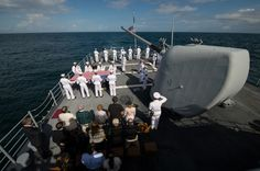 The sea is Neil Armstrong's final resting place. Burial service aboard the USS Philippine Sea, September 14, 2012. (image credit: NASA/Bill Ingalls)