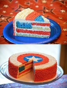 Fourth of July captain america cake