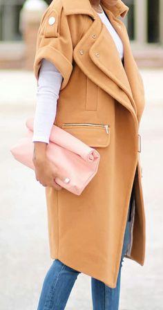 Camel coat #chic #fashion #style