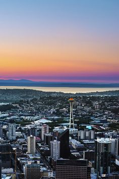 Rainbow sunset, Seattle