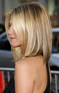 Honey Blonde Highlight - Medium Bob Hair Cut ---