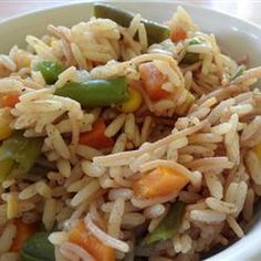 A simple recipe for fried rice and vegetables