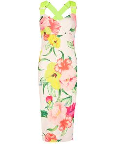 Pin to win a $800 shopping spree for you and a friend at http://www.tedbaker.com/pinpointed/ || Flowers at high tea dress - Cream | Dresses | Ted Baker