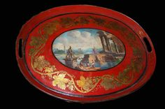 19th c French tole tray