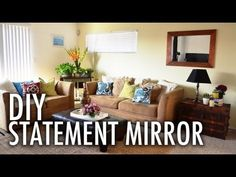 DIY Statement Mirror with Mr. Kate - YouTube - http://www.youtube.com/watch?v=-ltDn93npNQ craftsmen inspired mirror project @cabotstains
