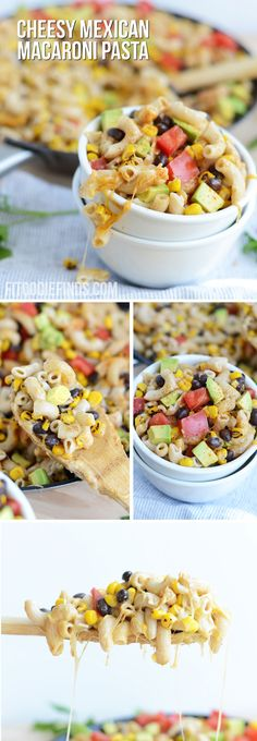 Cheesy Mexican Macaroni Pasta #GlutenFree #Healthy | FitFoodieFinds.com