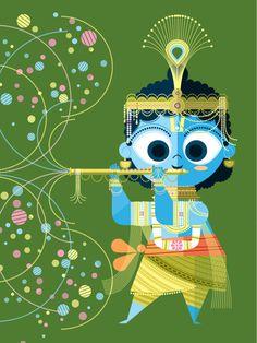 Krishna. From The Big Poster Book of Hindu Deities