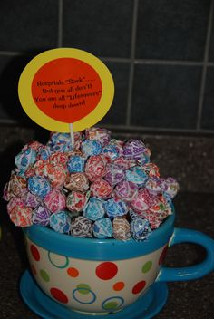 GIft for nurses after hospital stay - Lifesaver candy under the suckers...with a little chocolate for extra treat