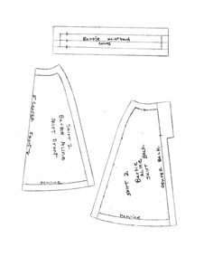 A-line skirt pattern for Barbie.