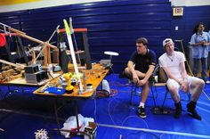 The annual Rube Goldberg Competition pits LeTourneau University students against each other in coming up with the most ridiculous contraption possible. http://www.letu.edu/