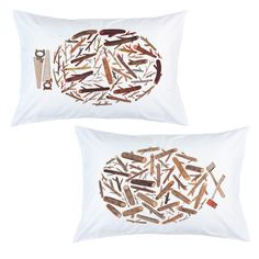 Logs pillow cases by my favourite Canadian artist Sarah Burwash available from the Stay Home Club LOVE!!!!!!!!!!!!!!!!!!