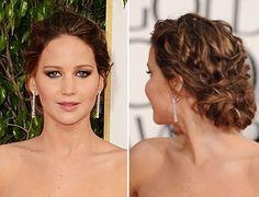 Jennifer Lawrence updo