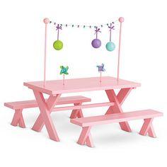 American Girl Doll Picnic Table