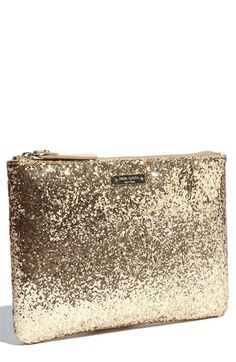 Kate Spade Fashion Shoes, Clutches, Makeup Bags, Glitter Makeup, Girls Fashion, Glitter Clutch, Girls Shoes, Accessories, Kate Spade