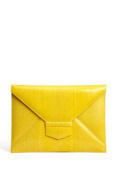 Oscar de la Renta - Yellow Envelope Clutch