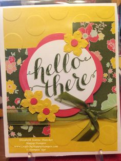 Stampin Up Hello There card stamp set