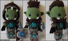World of Warcraft Custom Alliance or Horde Sackdoll. $85.00, via Etsy. So amazing!!