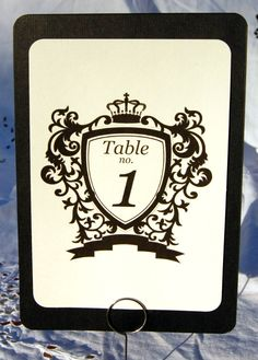 Table number card from Etsy