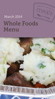 Whole Foods March Menu