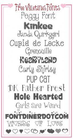 Free Valentines Font