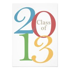 Class of 2013 Modern Brights Personalized Graduation Announcement