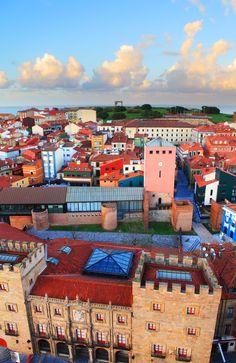Barrio de Cimadevilla en Gijón,.