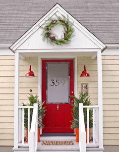 Neat front door