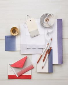 Give Mom a new set of stationery by dipping pencils and papers into a fabric dye solution.