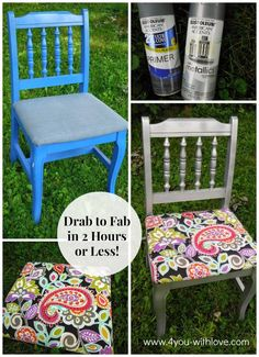 Shabby Chic Furniture Makeover #diy #paint #furniture