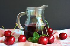 fresh cherry syrup for just about everything via @fieldsofcake