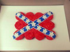 how to make a rebel flag cake