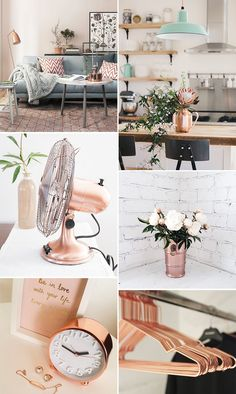 Rose Gold na decoraç