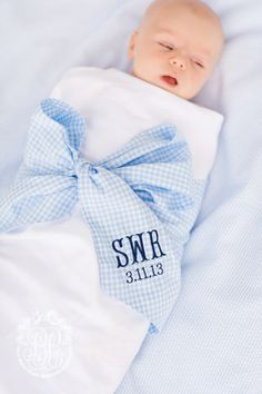 Love the monogram bow