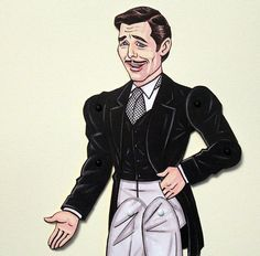 Rhett Butler paper doll, Gone with the Wind, Clark Gable
