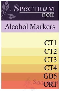 Spectrum Noir Alcohol Markers: Yellows