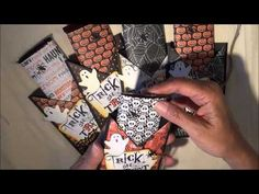 ▶ Halloween Treat Pockets...Super fun and easy! ♥ - YouTube