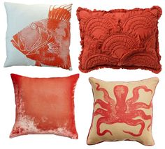 June's Color of the Month -- Burnt Coral Pillows - HGTV's Design Happens Blog