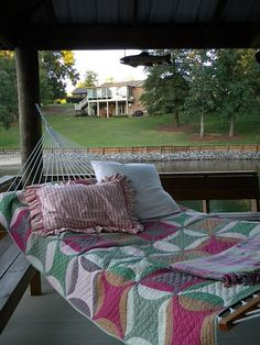 cozy porch hammock
