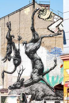 ROA in Berlin, Germany #ROA #Graffiti #StreetArt #Berlin #Germany