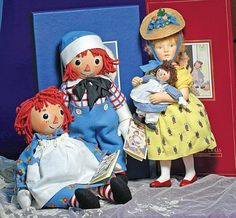 """*JOHN WRIGHT """"RAGGEDY ANN & ANDY"""" MATCHED PAIR. : Lot 266"""